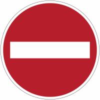 """Mini-pictogrammes d'interdiction """"Sens interdit"""" en rouleau"""