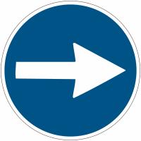 """Mini-pictogrammes d'obligation """"Flèche directionnelle orientable"""" en rouleau"""
