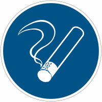 """Mini-pictogrammes d'obligation """"Zone fumeur"""" en rouleau"""