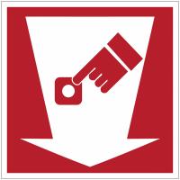 """Mini-pictogrammes d'incendie """"Point d'alarme incendie"""" en rouleau"""