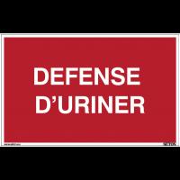 Panneaux à messages standards - Défense d'uriner
