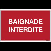 Panneaux à messages standards - Baignade interdite