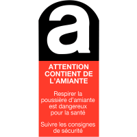 "Etiquettes ""Danger amiante - Attention contient de l'amiante"""