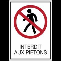 Panneaux de signalisation de sécurité standards - Interdit aux piétons