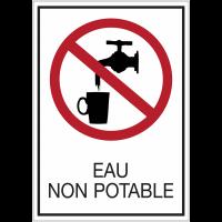 Panneaux de signalisation de sécurité standards - Eau non potable