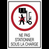 Panneaux de signalisation de sécurité standards - Ne pas stationner sous la charge
