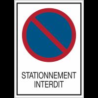 Panneaux de signalisation de sécurité standards - Stationnement interdit