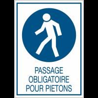 Panneaux de signalisation de sécurité standards - Passage obligatoire pour piétons