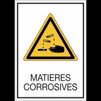 Panneaux de signalisation de sécurité standards - Matières corrosives