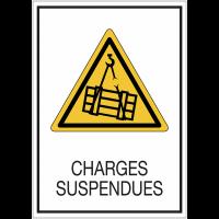 Panneaux de signalisation de sécurité standards - Charges suspendues