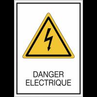Panneaux de signalisation de sécurité standards - danger électrique