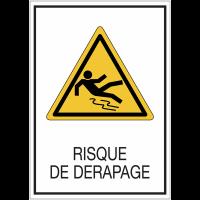 Panneaux de signalisation de sécurité standards - Risque de dérapage