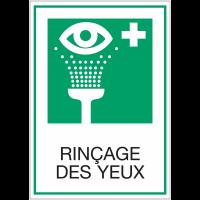 Panneaux de signalisation de sécurité standards - Rinçage des yeux