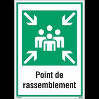 Panneaux de signalisation de sécurité standards - Point de rassemblement