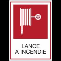 Panneaux de signalisation de sécurité standards - Lance à incendie