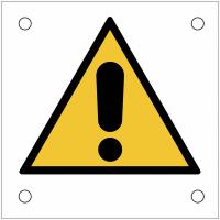 """Plaques de signalisation pour machines """"Danger général"""""""