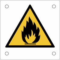 """Plaques de signalisation pour machines """"Danger matières inflammables"""""""