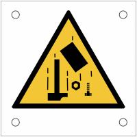 """Plaques de signalisation pour machines """"Danger, chute d'objet"""""""