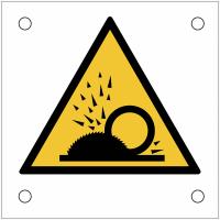 """Plaques de signalisation pour machines """"Danger, projection de copeaux"""""""