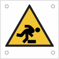 """Plaques de signalisation pour machines """"Danger, trébuchement"""""""