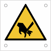 """Plaques de signalisation pour machines """"Risque de coupure, lame tranchante"""""""