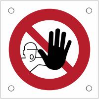 """Plaques de signalisation pour machines """"Accès interdit aux personnes non autorisées"""""""
