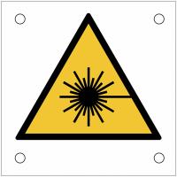 """Plaques de signalisation pour machines """"Danger, rayonnement laser"""""""