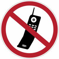 Etiquettes de signalisation pour machines - Téléphones mobiles interdits
