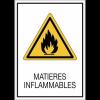 Panneaux double-face à suspendre - Matières inflammables