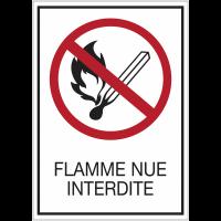 Panneaux rigides adhésifs - Flamme nue interdite