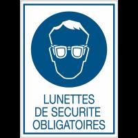 Panneaux rigides adhésifs - Lunnettes de sécurité obligatoires