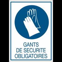 Panneaux rigides adhésifs - Gants de sécurité obligatoires