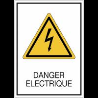 Panneaux rigides adhésifs - Danger électrique