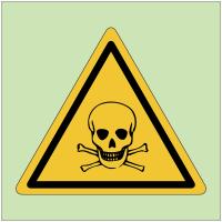 """Panneaux de danger photoluminescent """"Matières toxiques"""""""