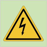 """Panneaux de danger photoluminescent """"Danger électricité"""""""