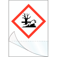 """Etiquettes symboles CLP à compléter """"Danger pour le milieu aquatique"""""""