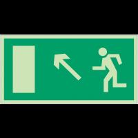 """Panneaux d'évacuation et de secours """"homme qui monte, flèche à gauche"""""""