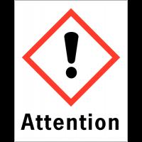 """Etiquettes d'identification des produits dangereux """"Attention - Danger pour sensibilisation cutanée"""""""