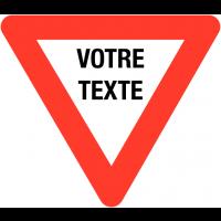 Panneaux de circulation à couvre-chant de danger personnalisés
