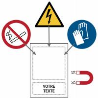Panneaux magnétiques avec pictogramme et texte personnalisés