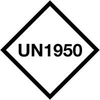 Etiquettes de transport international UN avec numéro personnalisé