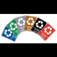 """Panneaux """"Tri sélectif des déchets"""" à personnaliser"""