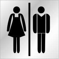 """Plaques signalétiques en plexiglas """"Toilettes homme et femme"""""""