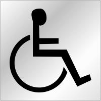 """Plaques signalétiques en plexiglas """"Handicapés"""""""