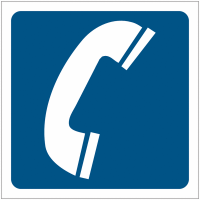 """Pictogrammes de signalisation """"Téléphone"""""""