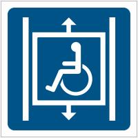 """Pictogrammes de signalisation """"Ascenseur accessible aux fauteuils roulants"""""""
