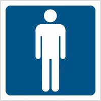 """Pictogrammes de signalisation """"Toilettes homme"""""""