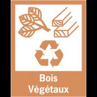 """Panneaux de signalisation """"Tri sélectif des déchets"""" pour Bois et Végétaux"""