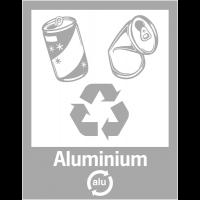 """Panneaux de signalisation """"Tri sélectif des déchets"""" pour Aluminium"""
