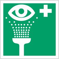 """Mini autocollants d'urgence """"Equipement de rinçage des yeux"""""""